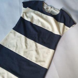 Anne Klein Striped Sheath Dress 6